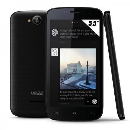 """Smartphone 5.5"""" Yezz Andy A (1.3 GHz Dual Core, 512 Mo de Ram)"""