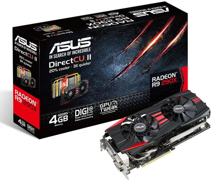 Carte graphique Asus Radeon R9 290X - 4 Go R9290X-DC2-4GD5
