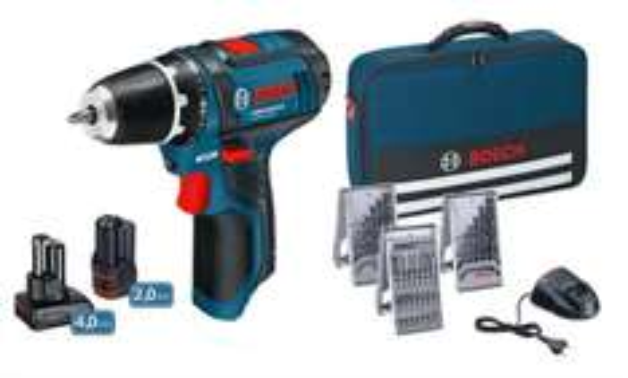 Perceuse-visseuse Bosch GSR 10,8-2-Li - 39 pièces