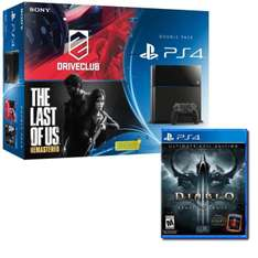 Pack Console PS4 + Drive Club + The Last Of Us Remastered + Diablo 3 Reaper Of Souls