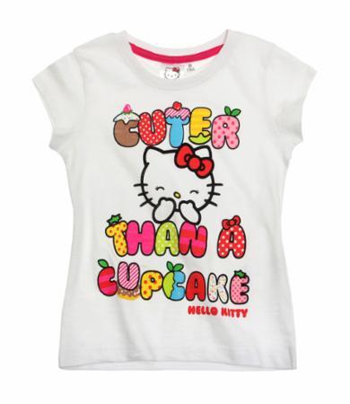 Sélection de vêtements fille, garçon et bébé - Ex : Tee-shirt Hello Kitty - Blanc (2ans et 8 ans)