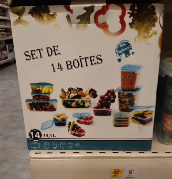 lot de 14 boites de conservation alimentaire