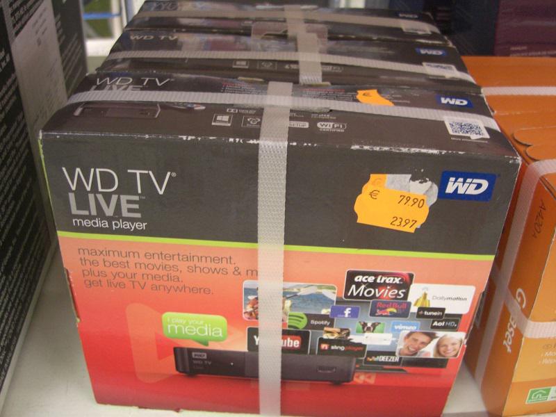 Séléction de soldes - Ex : Lecteur Multimedia Western Digital TV Live (WD TV Live)