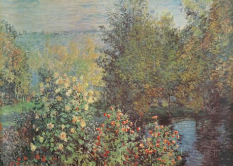 Reproduction d'art : Le Jardin des Hoschede 140 x 99 cm - Claude Monet
