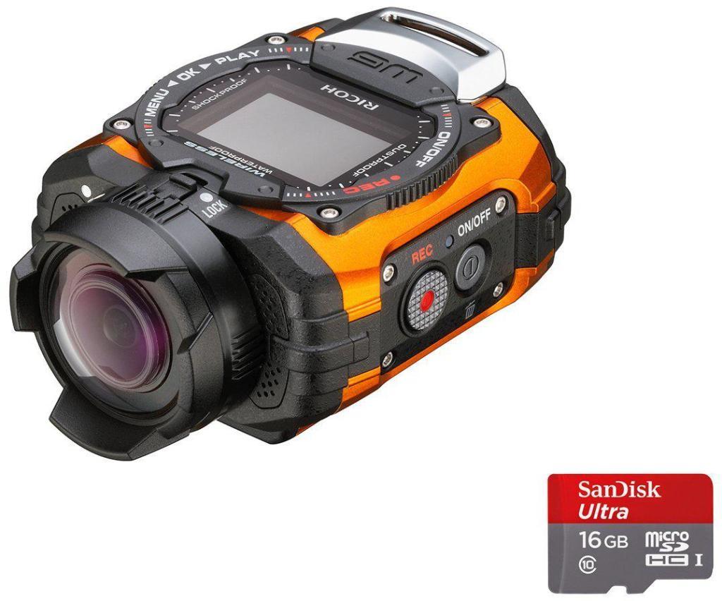 Caméra étanche miniature Ricoh WG-M1 + carte  microSD 16 Go