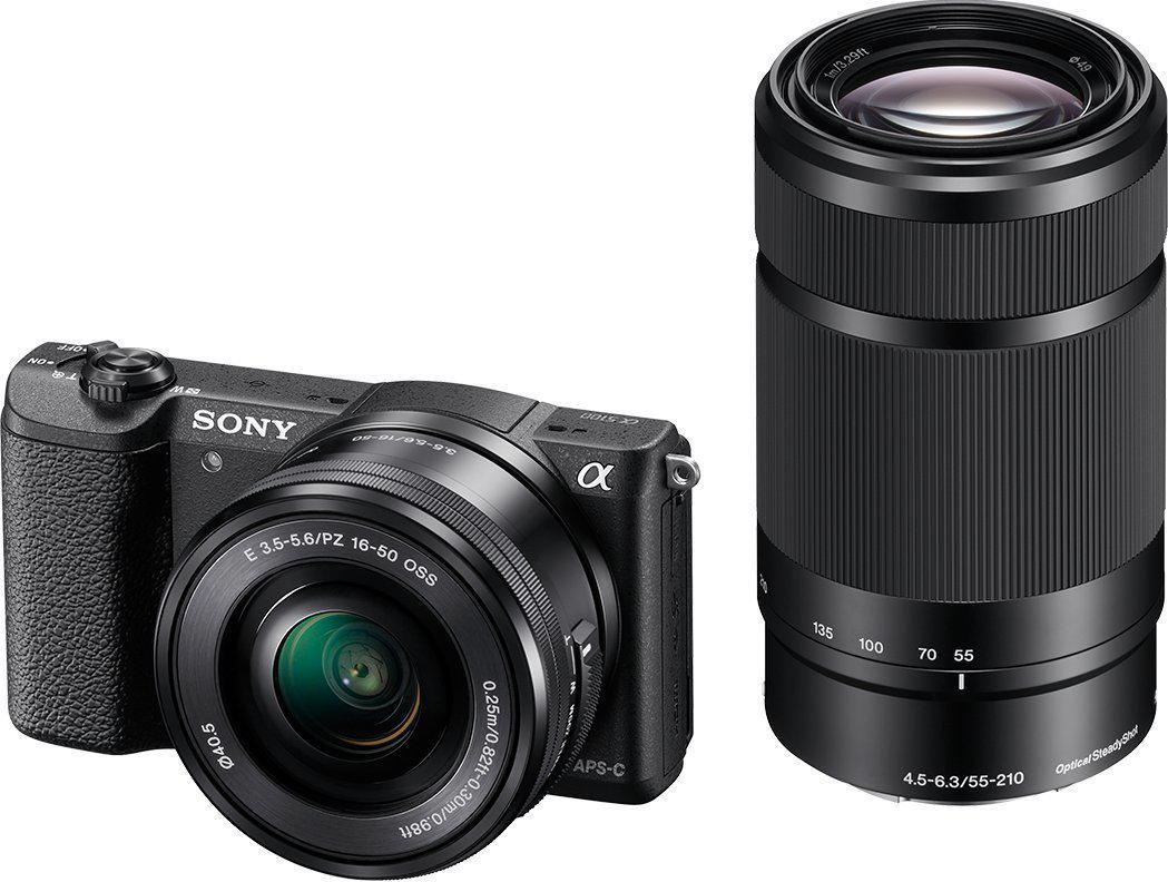 "Appareil Photo hybride 3"" Sony A5100 (7,62 cm) 24,7 Mpix + 2 Objectifs : 16-50 mm e 55-210 mm"