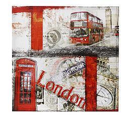 Toile 50 x 50 cm British Bus