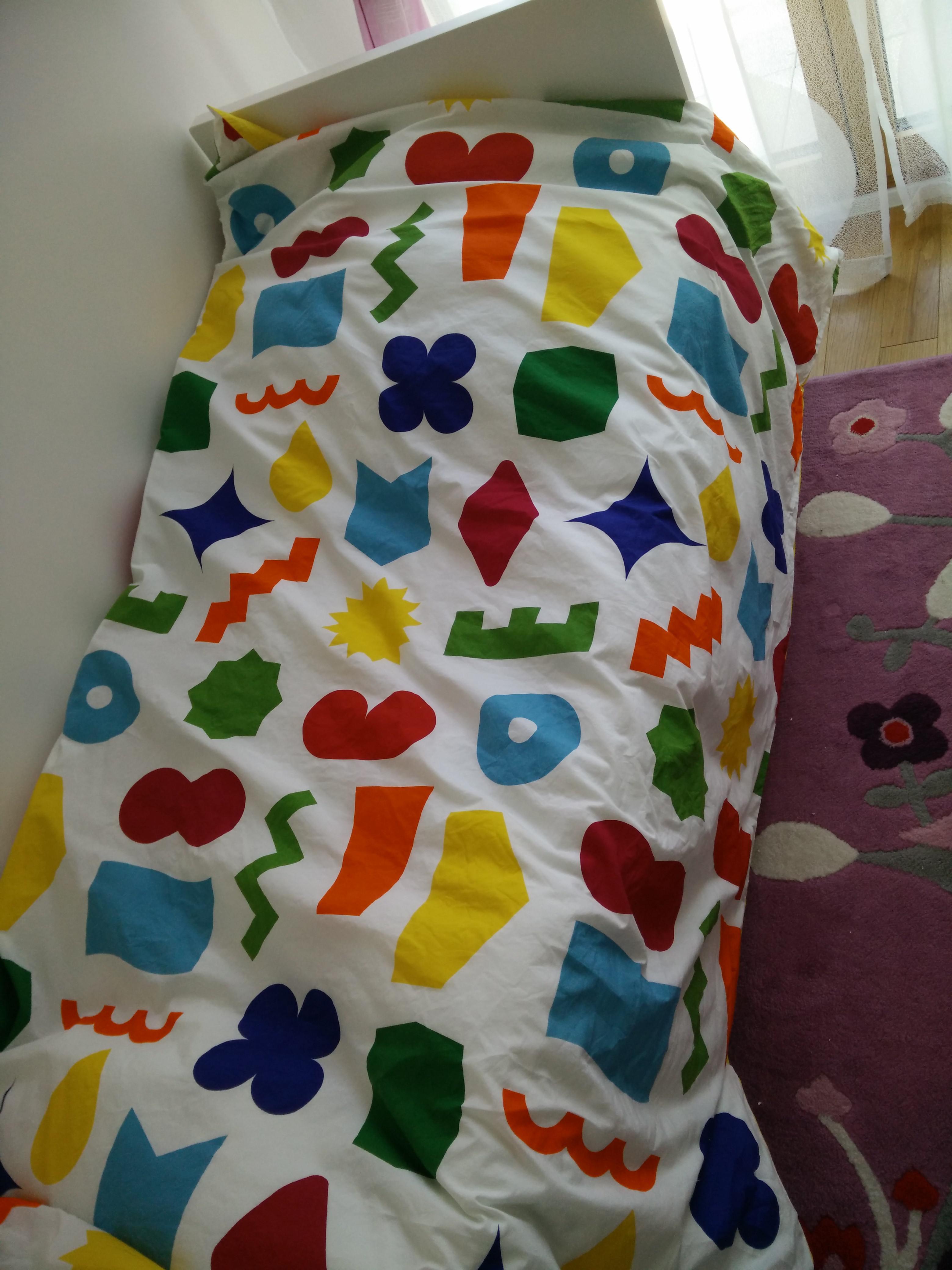 Housse de couette Dodo enfants 140x200 + taie d'oreiller - 100% coton
