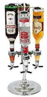 Distributeur de bouteilles pivotant et ses 4 becs verseurs doseurs La chaise longue 24-CL048 Chrome