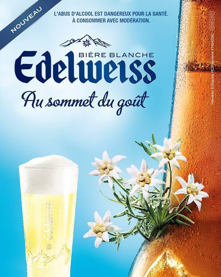 Pack de bières blanches Edelweiss 6x25cl