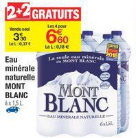 4 packs de 6 bouteilles 1,5L d'eau minérale Mont Blanc (BDR de 1.2€)