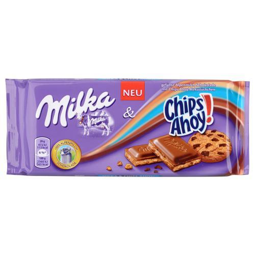 Sélection de Tablettes de chocolat Milka différents parfums