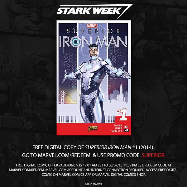 Comic Marvel : Superior Iron Man (2014) gratuit en édition numérique - version anglaise