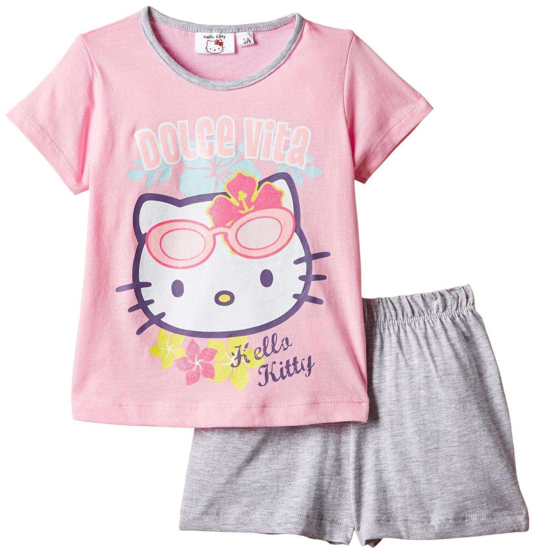 [Panier Plus] MAJ Ensemble de pyjama fille Hello Kitty couleur rose (3 ans et 8 ans)