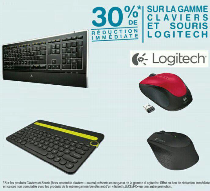30% de réduction sur les claviers et souris Logitech - Ex : Clavier Gaming G105