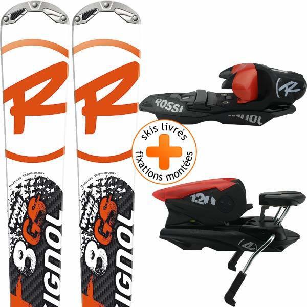Paire de skis Radical 8 GS Cascade TPX + Fixations Axium 120