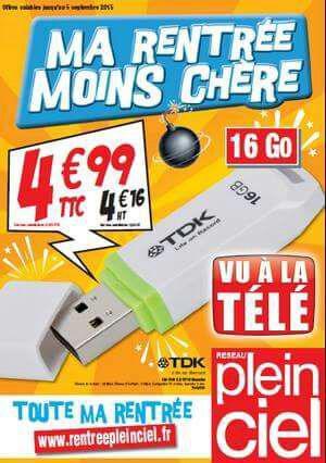 Clé USB 2.0 TDK - 16go