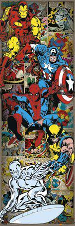 Poster de porte Super Héros Marvel 158 x 53 cm