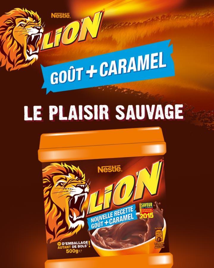 Poudre cacaotée Lion de 500g