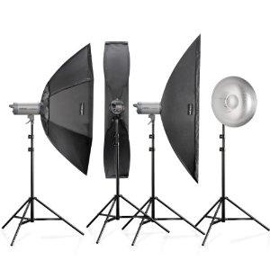 Kit de studio Walimex Pro 16930 VC-400/300/300/200 plus