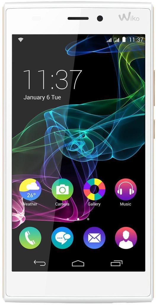 "Smartphone 5.5"" Wiko Ridge Fab 4G 16 Go - Blanc/Or"