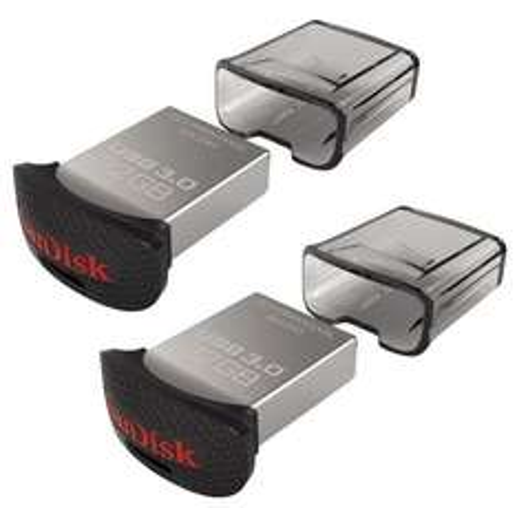 Lot de 2 Clés USB 3.0 SanDisk Ultra (Idéal PC Portable/Autoradio) Fit 32Go