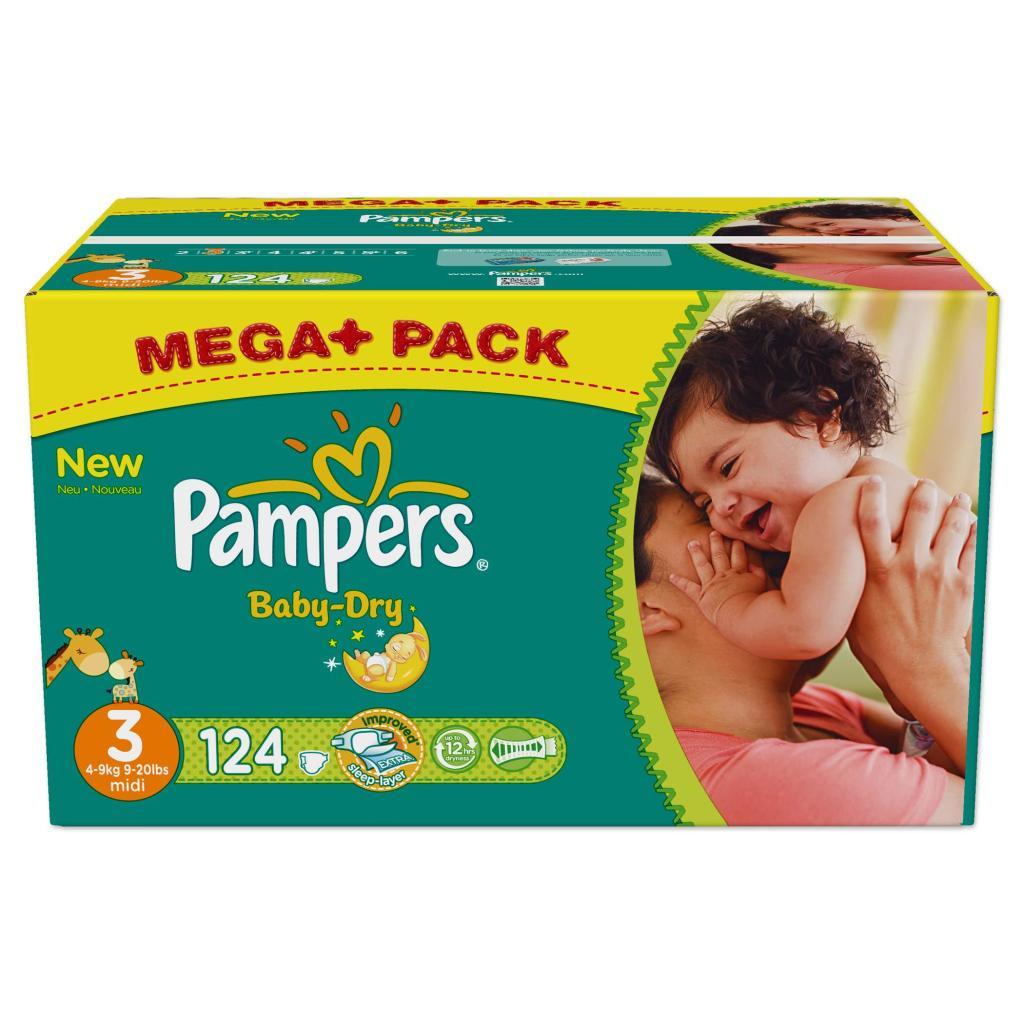 Lot de 2 mega packs de Pampers Baby Dry