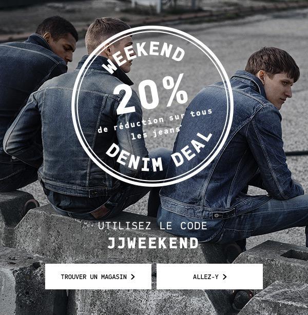 20% de réduction sur tous les jeans