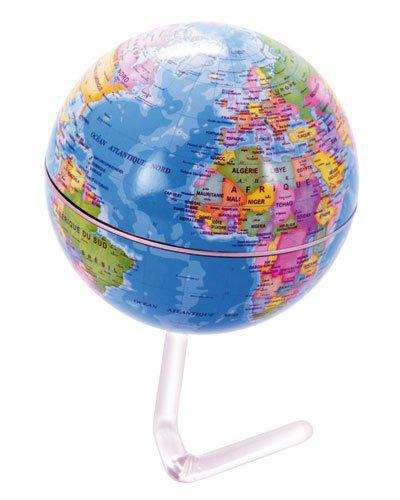 Globe terrestre rotatif 10.5 cm gratuit (frais de port : 3.99€)