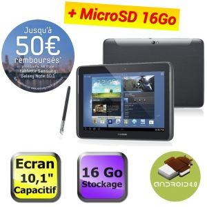 "Tablette Samsung Note 10.1"" 16go + Carte SD 16 GO offerte / Avec ODR (50€)"