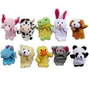 10 marionnettes pour doigts en forme d'animaux
