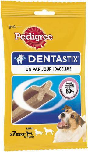 2 paquets de Dentastix de Pedigree (40% avantage carte + 1.50€ de réduction)
