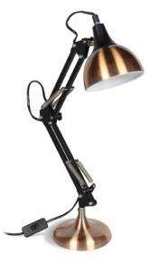Lampe de bureau articulée - Style industriel - Acier/Cuivre