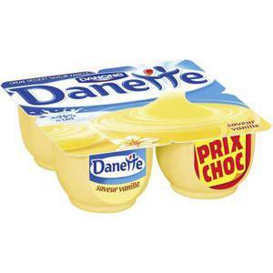 Lot de 2 packs Crème dessert Danette - Vanille (ou autres parfums)