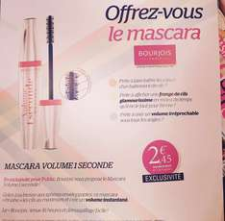 Magazine Public + Mascara 1 seconde de Bourjois (valeur 14€)