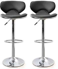 Lot de 2 tabourets de bar Arno Noir