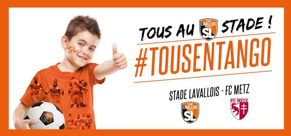 Place pour le match de foot  Laval - Metz offerte pour les -16 ans habillés en orange