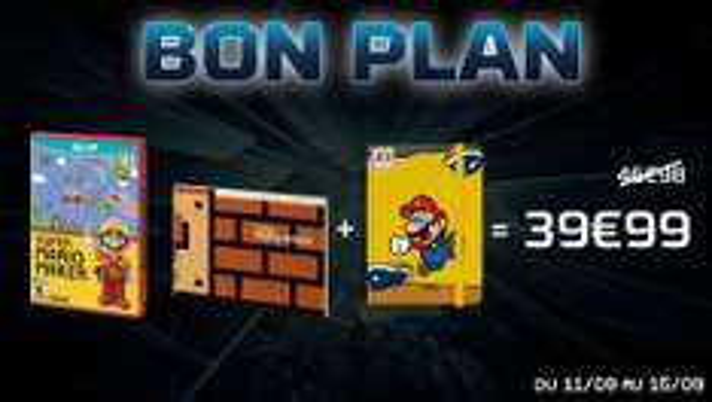 Jeu Super Mario Maker +  artbook + notebook Mario exclusif offert