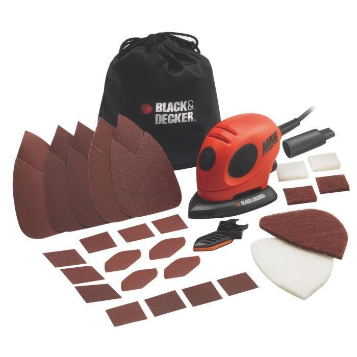 Ponçeuse Mouse Firestorm Black & Decker KA 161 BC - 55 W + 15 accessoires en ligne ou en magasin