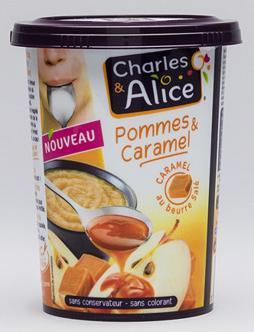 Lot de 24 pots de Compotes Charles et Alice - 24x535g - Différents parfums