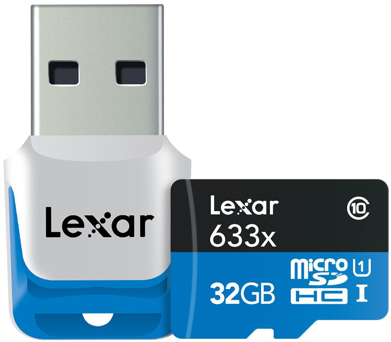 Carte mémoire MicroSDXC Classe 10 UHS-I  Lexar avec Lecteur USB 3.0 -  32 Go