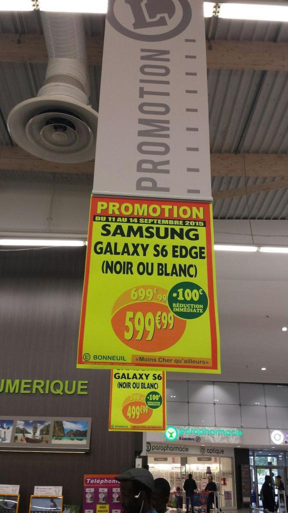 Smartphone Samsung Galaxy S6 Edge à 599€ et Galaxy S6