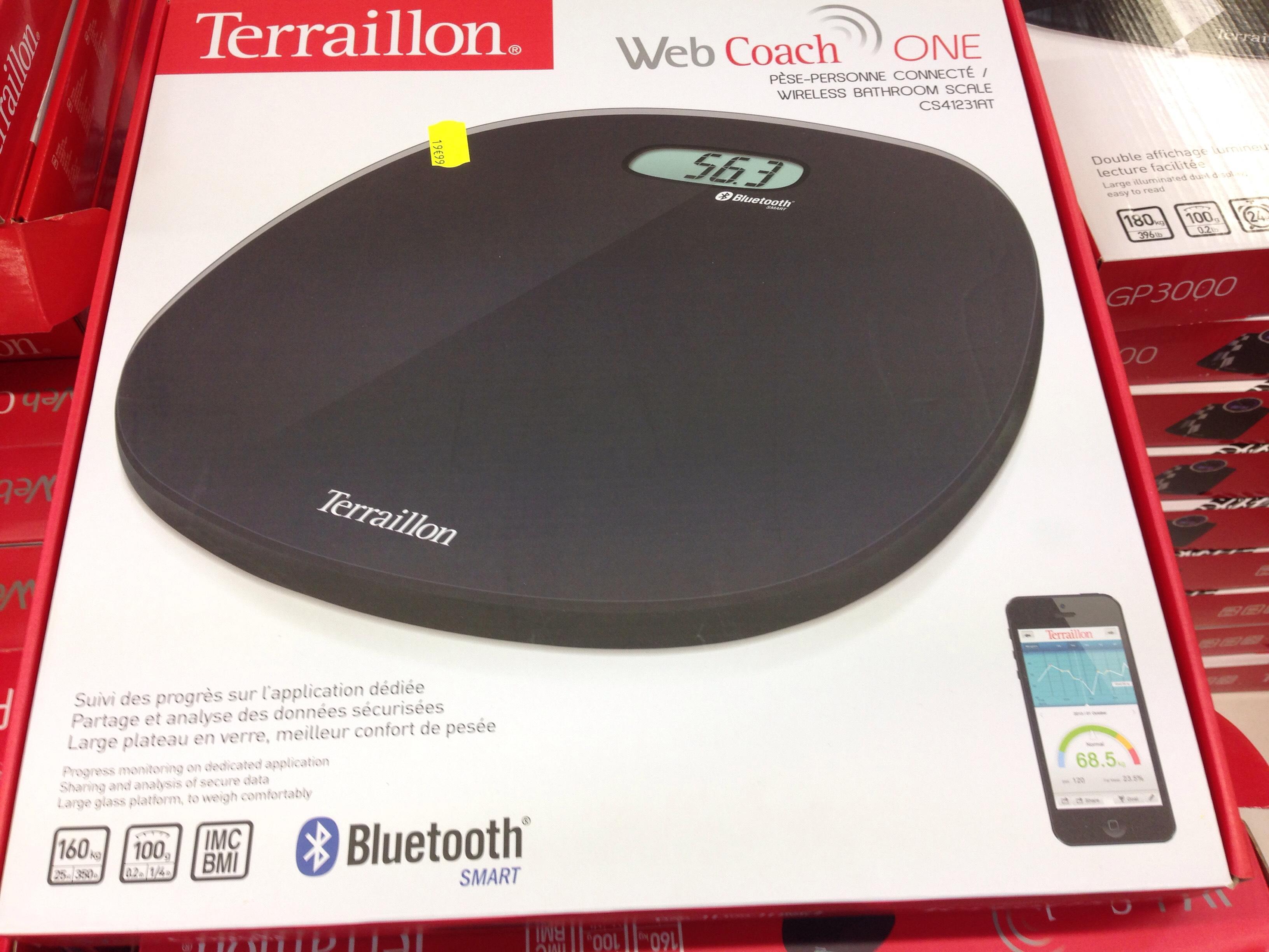 Pèse-personne connecté Terraillon Web Coach One (et autres modèles)