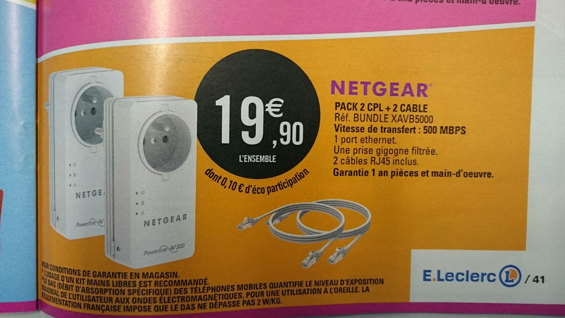Lot de 2 CPL Netgear XAVB5000 500 mbps -