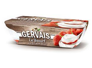 Lot de 2 packs de 2 yaourts Gervais sur lit de fraises - Divers variétés (via BDR)