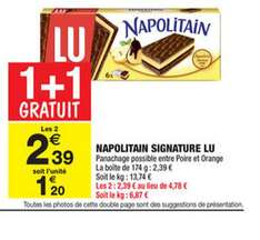 Lot de 4 paquets de Napolitain Signature (BDR de 2.10€)