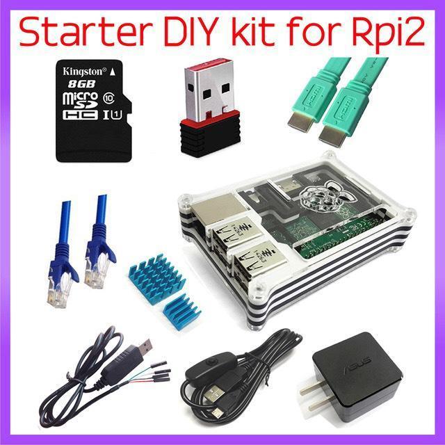 kit  d'accessoires pour  Raspberry pi 2 (Dongle Wifi, micro SD...)