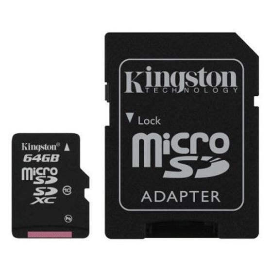 Carte mémoire micro SDXC Kingston 64 Go Classe 10
