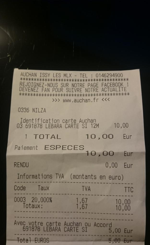 5€ crédités sur la carte Waaoh! pour l'achat d'une carte Sim prépayée Lebara (soit un gain de 2.5€)