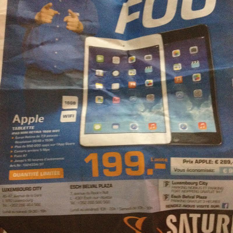 Tablette iPad Mini Retina 16 Go Wifi